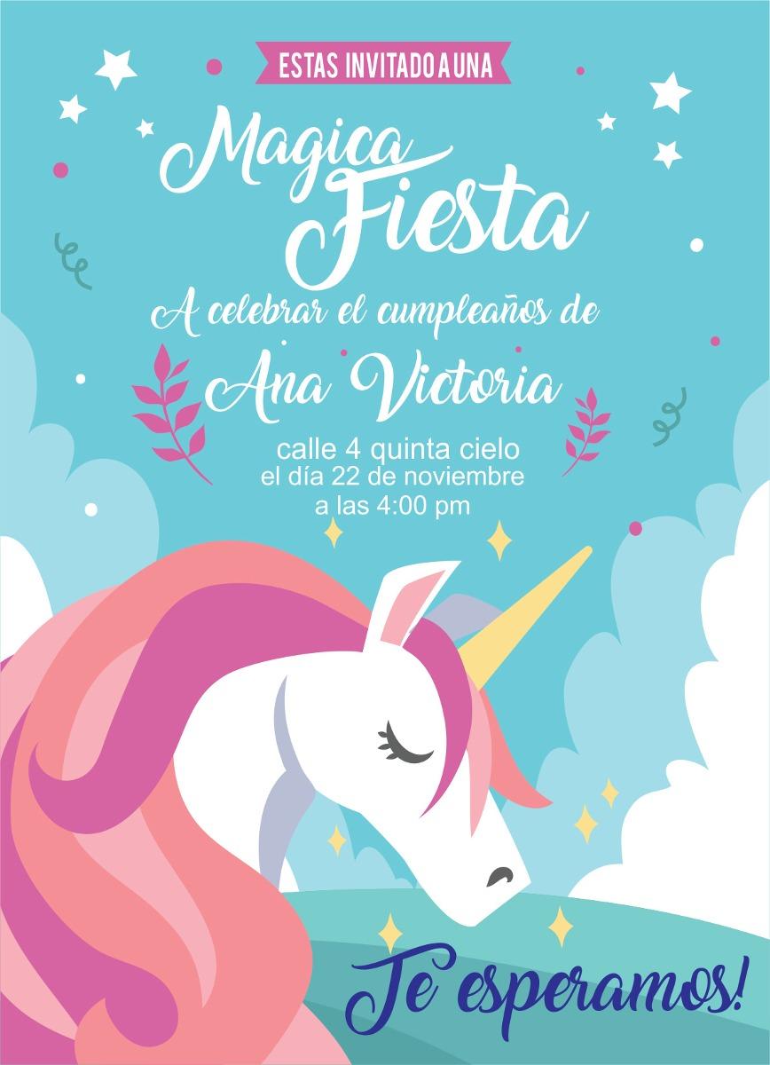 Cumpleaños Unicornio Celebra Tu Aniversario Con Complementos