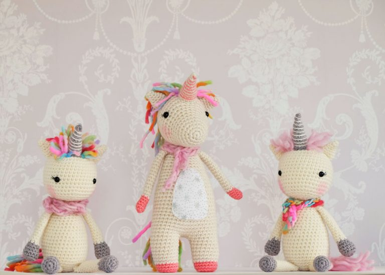 trio-unicornios-amigurumi