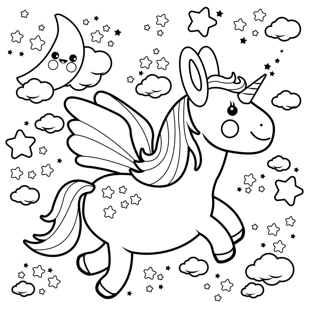 Unicornio Para Colorear Hemos Reunido Una Seleccion De Dibujos